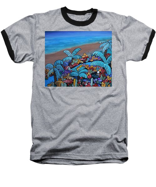 Santa Barbara Beach Baseball T-Shirt by Barbara St Jean