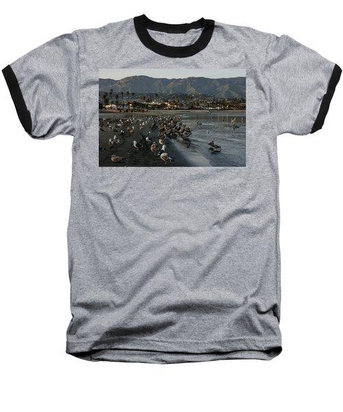 Baseball T-Shirt featuring the photograph Santa Barbara Beach Crowd  by Georgia Mizuleva