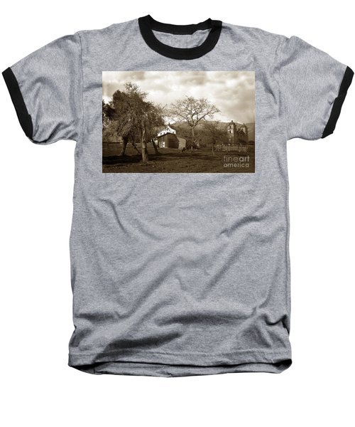 Santa Barbara Mission California Circa 1890 Baseball T-Shirt