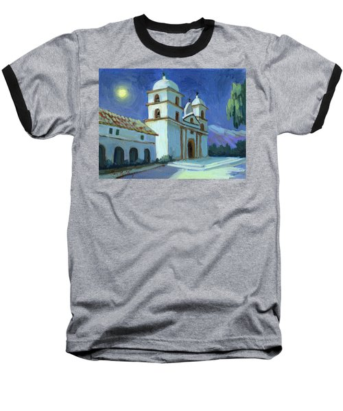Santa Barbara Mission Moonlight Baseball T-Shirt