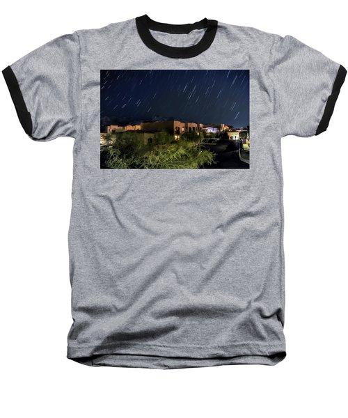 Baseball T-Shirt featuring the photograph Santa Catalina Mountain Startrails by Dan McManus