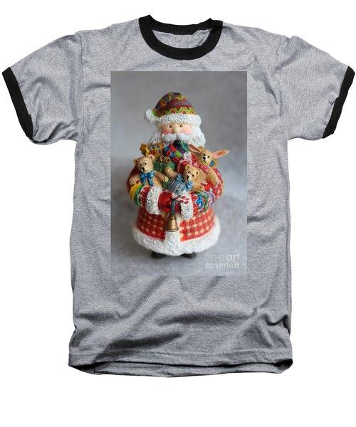 Santa Claus Baseball T-Shirt by Ella Kaye Dickey