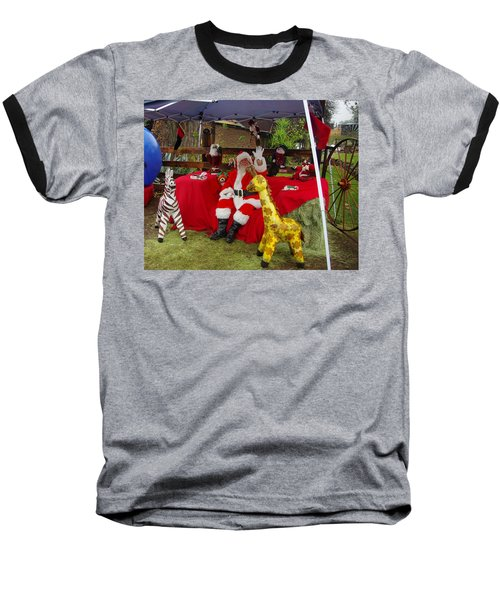 Santa Clausewith The Animals Baseball T-Shirt