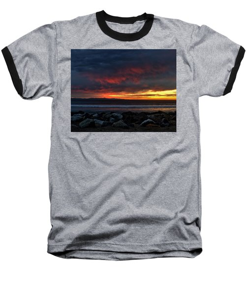 Baseball T-Shirt featuring the photograph Santa Cruz Rocks by Michael Gordon
