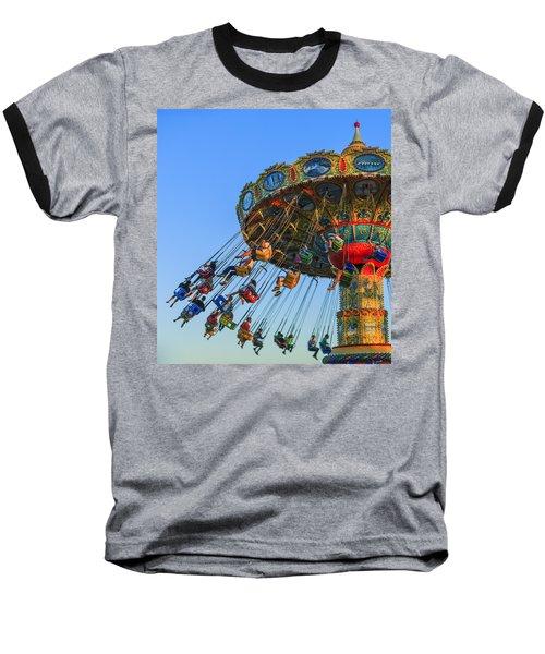 Santa Cruz Seaswing At Sunset 5 Baseball T-Shirt