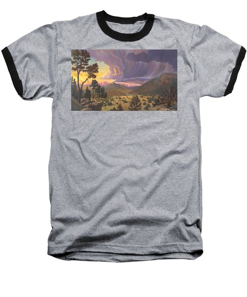 Baseball T-Shirt featuring the painting Santa Fe Baldy by Art James West
