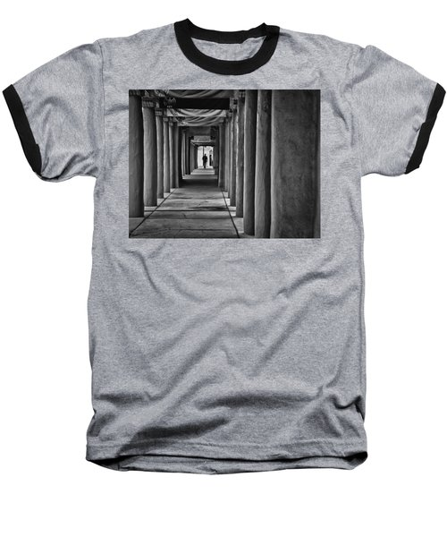 Baseball T-Shirt featuring the photograph Santa Fe New Mexico Walkway by Ron White