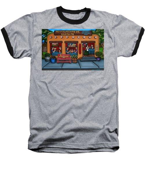 Santa Fe Restaurant Tyler Baseball T-Shirt