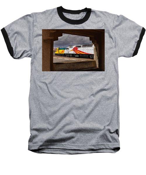 Santa Fe Train Baseball T-Shirt