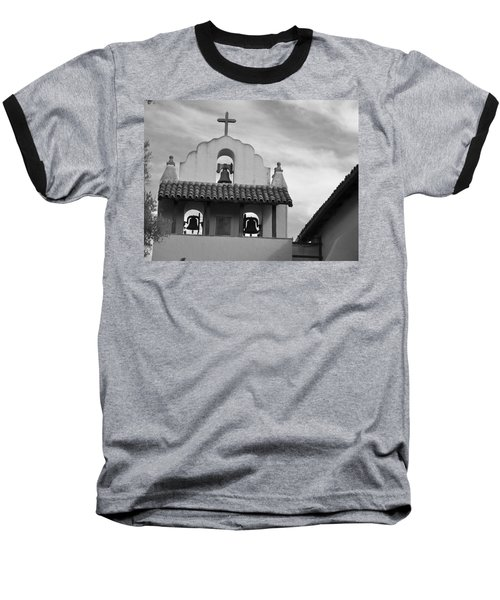 Santa Ines Mission Bell Tower Baseball T-Shirt