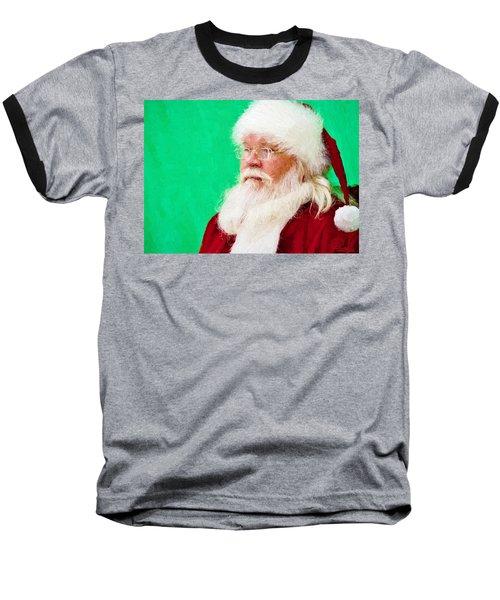Santa Baseball T-Shirt by Ludwig Keck