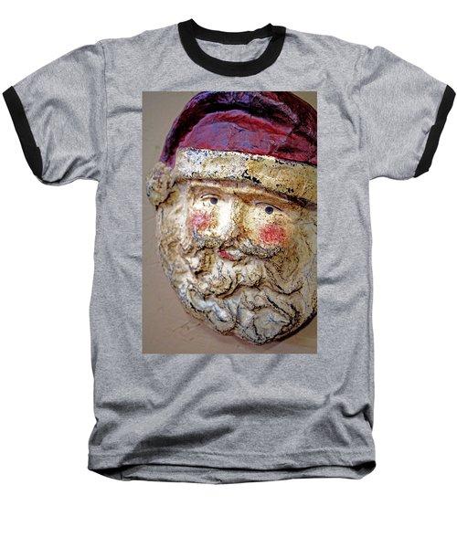 Santa Baseball T-Shirt by Lynn Sprowl
