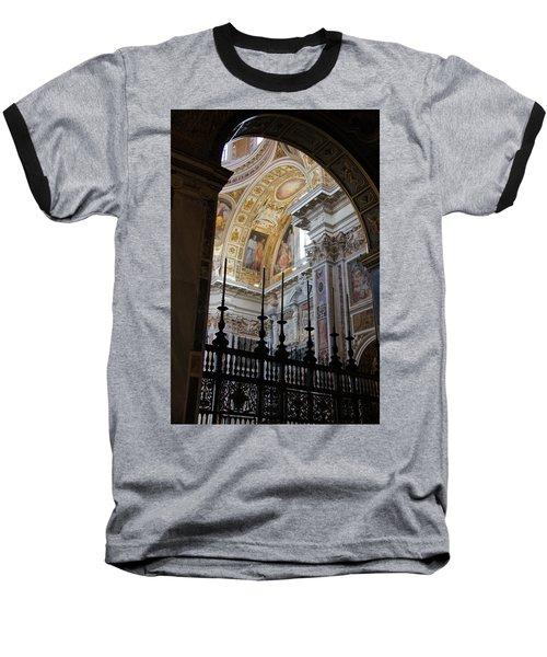 Santa Maria Maggiore Baseball T-Shirt by Debi Demetrion