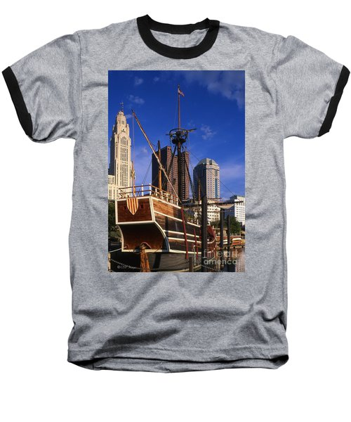 Santa Maria Replica Photo Baseball T-Shirt