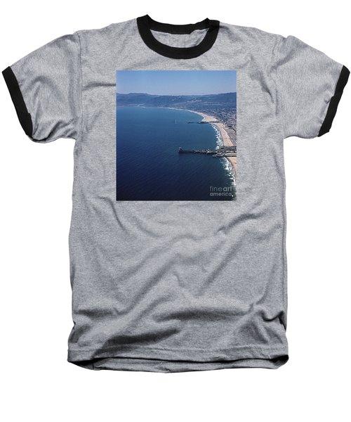 1960 Santa Monica Bay From The Air Baseball T-Shirt