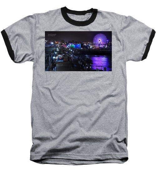 Santa Monica Pier 5 Baseball T-Shirt