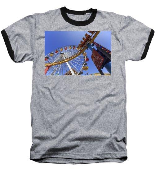 Santa Monica Pier Pacific Plunge Baseball T-Shirt