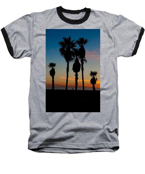 Santa Monica Sunset Baseball T-Shirt