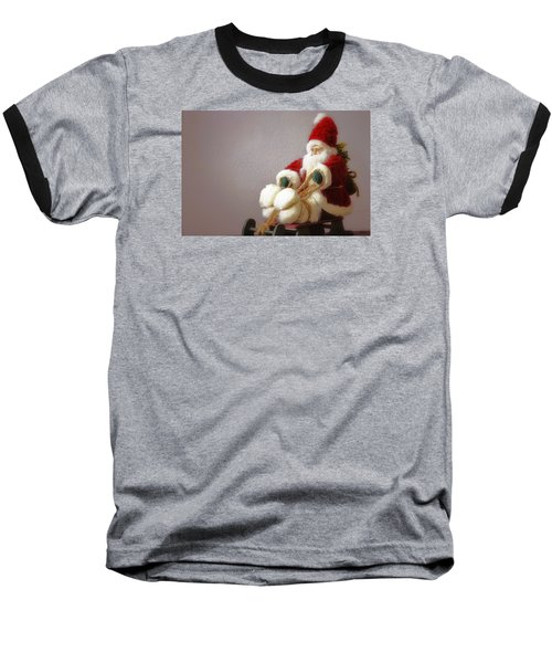 Baseball T-Shirt featuring the photograph Santa Takes His Sled by Nadalyn Larsen