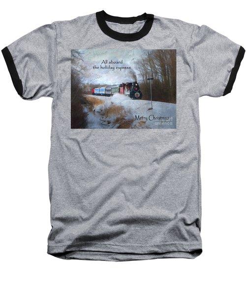 Baseball T-Shirt featuring the digital art Santa Train - Waterloo Central Railway by Lianne Schneider