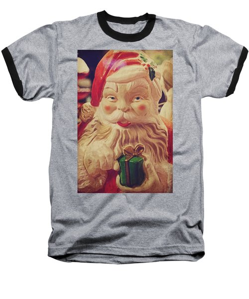 Santa Whispers Vintage Baseball T-Shirt