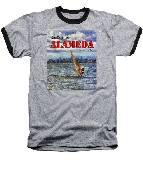 Baseball T-Shirt featuring the photograph Alameda Santa's Greetings by Linda Weinstock