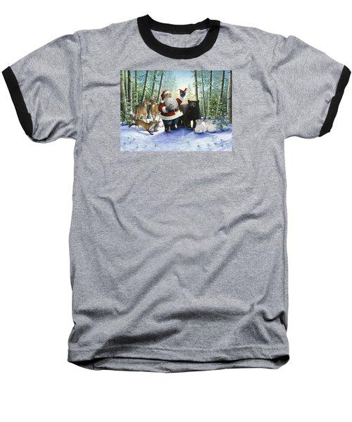 Santa's Christmas Morning Baseball T-Shirt