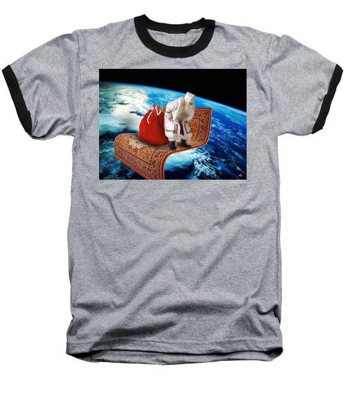 Santa's Flying Carpet Baseball T-Shirt