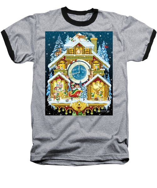 Santas Workshop Cuckoo Clock Baseball T-Shirt