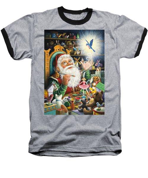 Santa's Workshop Baseball T-Shirt