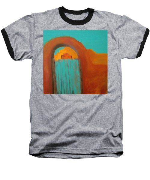 Baseball T-Shirt featuring the painting Sante Fe by Keith Thue