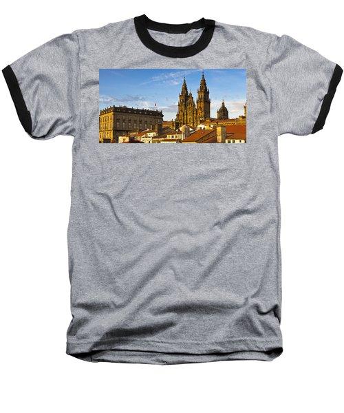 Baseball T-Shirt featuring the photograph Santiago De Compostela Cathedral Galicia Spain by Pablo Avanzini