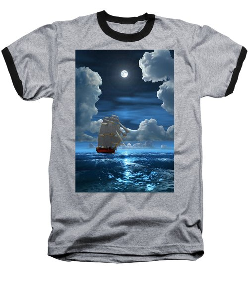 Santisima Trinida In The Moonlight 2 Baseball T-Shirt