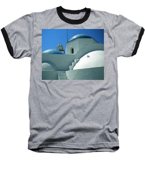 Baseball T-Shirt featuring the photograph Santorini Church Greece by Colette V Hera  Guggenheim