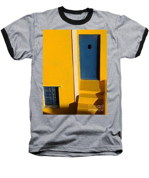 Santorini Doorway Baseball T-Shirt