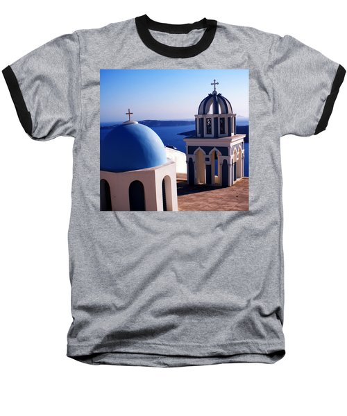 Baseball T-Shirt featuring the photograph Santorini  Island Church Greece  by Colette V Hera  Guggenheim