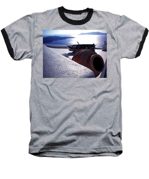 Baseball T-Shirt featuring the photograph Santorini Island Early Sunset View Greece by Colette V Hera  Guggenheim