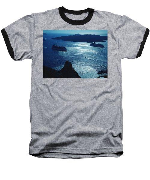 Baseball T-Shirt featuring the photograph Santorini  Silent Night View Greece by Colette V Hera  Guggenheim