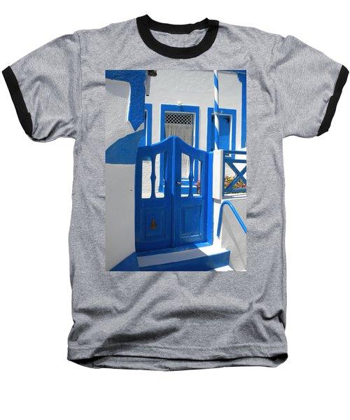 Baseball T-Shirt featuring the photograph Santorini Thirasia Island  by Colette V Hera  Guggenheim