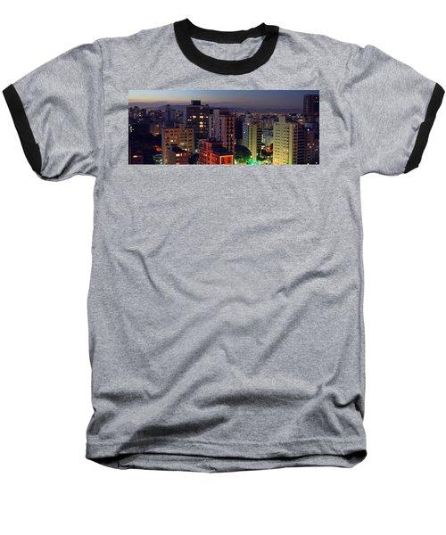 Sao Paulo Downtown At Dusk Baseball T-Shirt