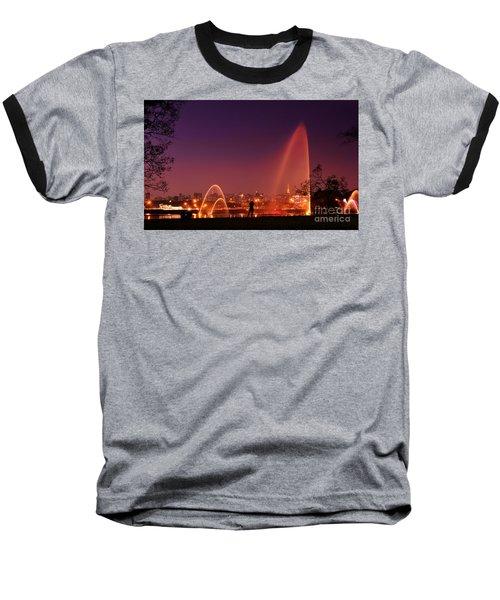 Sao Paulo - Ibirapuera Park At Dusk - Contemplation Baseball T-Shirt