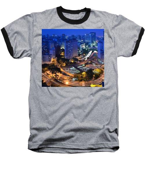 Sao Paulo Skyline - Downtown Baseball T-Shirt