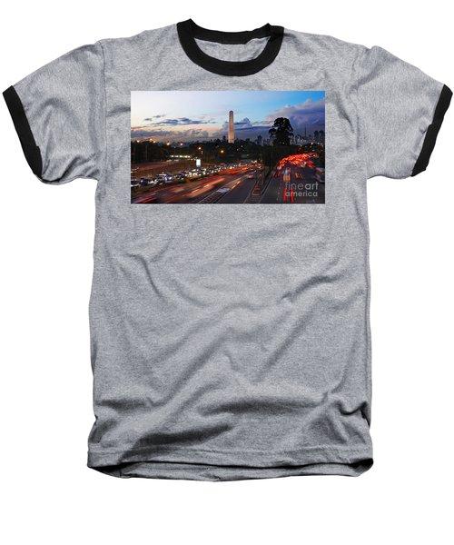 Sao Paulo Skyline - Ibirapuera Baseball T-Shirt
