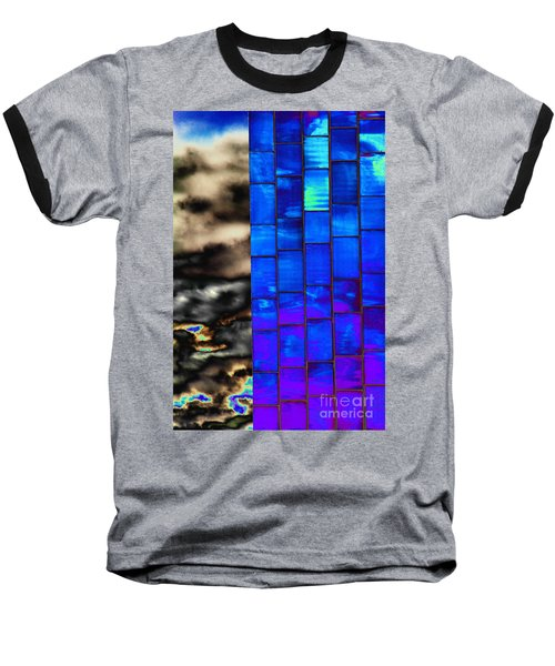 Sapphire Sunset Baseball T-Shirt by Christiane Hellner-OBrien