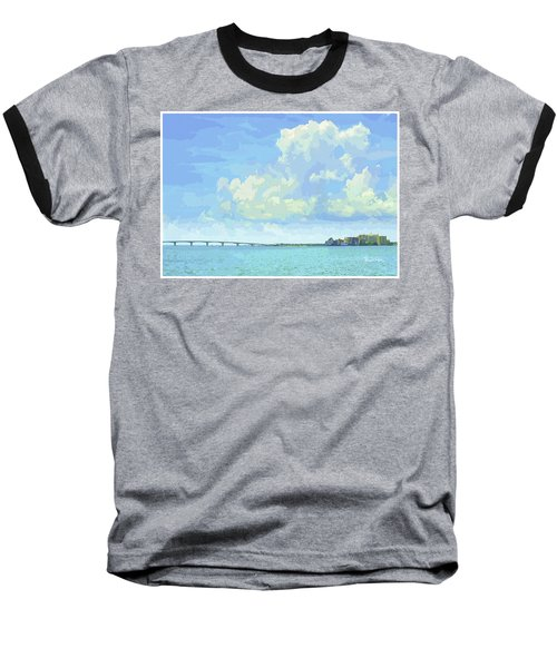 Sarasota Skyline From Sarasota Bay Baseball T-Shirt
