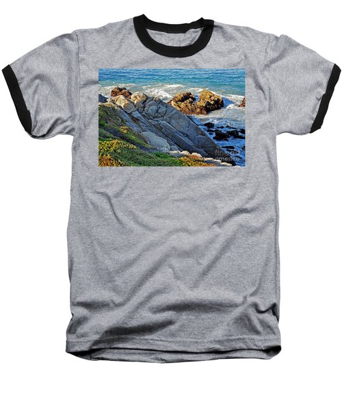 Sarcophagus Formation On Seaside Rocks Baseball T-Shirt by Susan Wiedmann