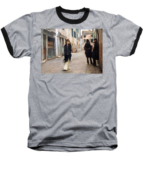 Sargent's Street In Venice Baseball T-Shirt