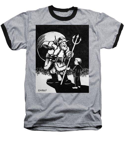 Satan Santa Baseball T-Shirt