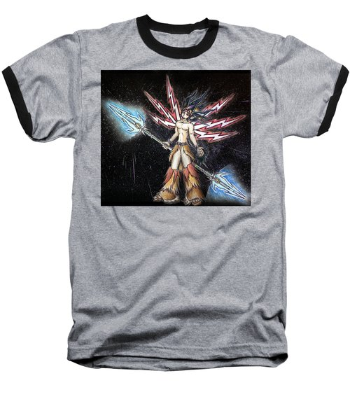 Satari God Of War And Battles Baseball T-Shirt