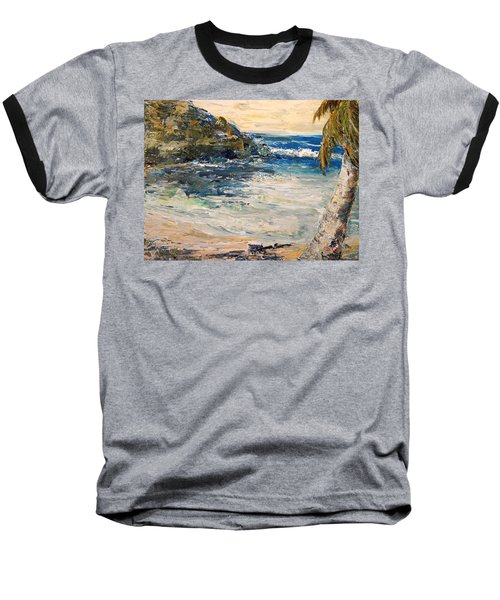 Baseball T-Shirt featuring the painting Saturday Afternoon  by Alan Lakin